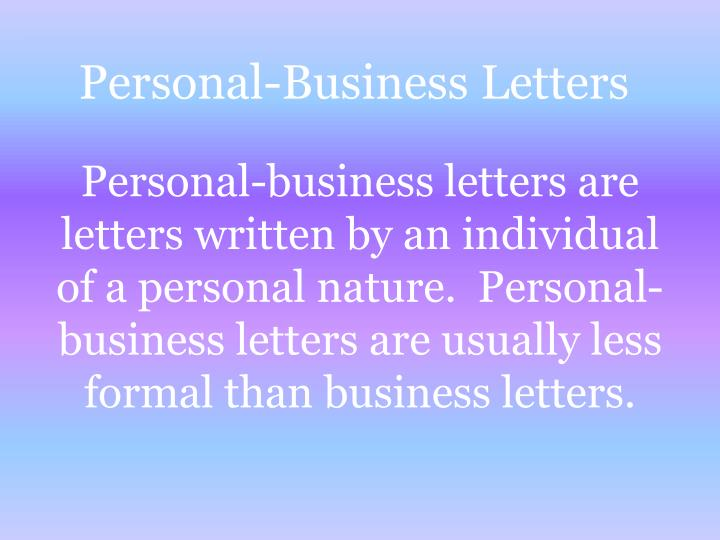 Personal business letters1