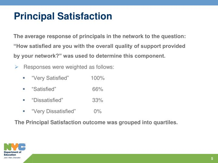 Principal Satisfaction