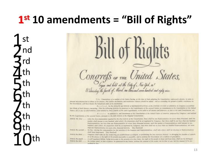 bill of rights and amendments paper The bill of rights is the first ten amendments to the united states constitution   nobody can search your body, or your house, or your papers and things, unless.