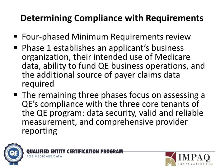 Determining Compliance with Requirements