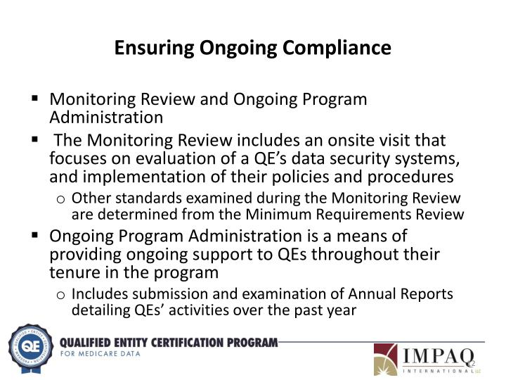Ensuring Ongoing Compliance