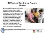 qe medicare data sharing program mission