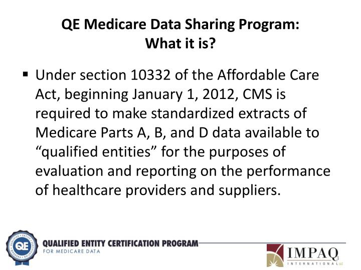 QE Medicare Data Sharing Program: