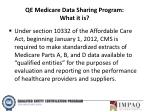 qe medicare data sharing program what it is