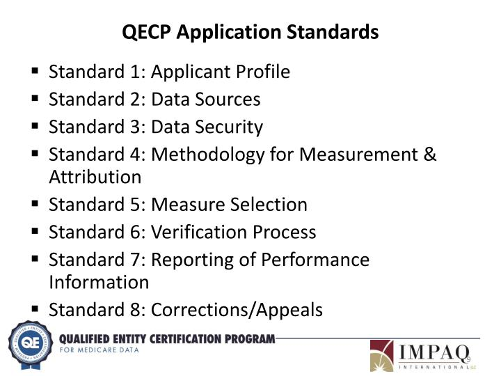 QECP Application Standards