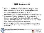 qecp requirements
