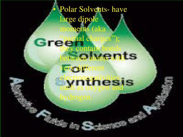 Polar Solvents-