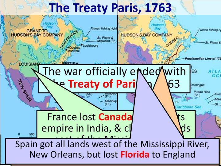 The Treaty Paris, 1763