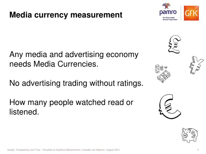 Media currency measurement