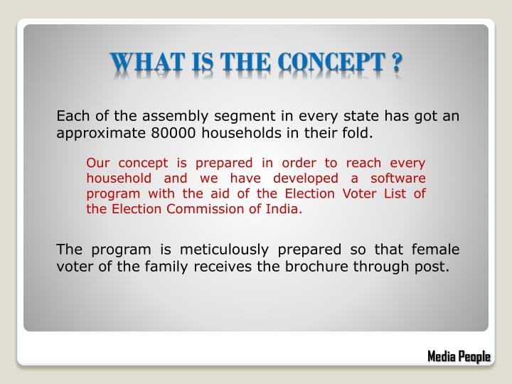 Each of the assembly segment in every state has got an approximate 80000 households in their fold.