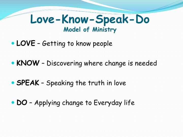Love-Know-Speak-Do