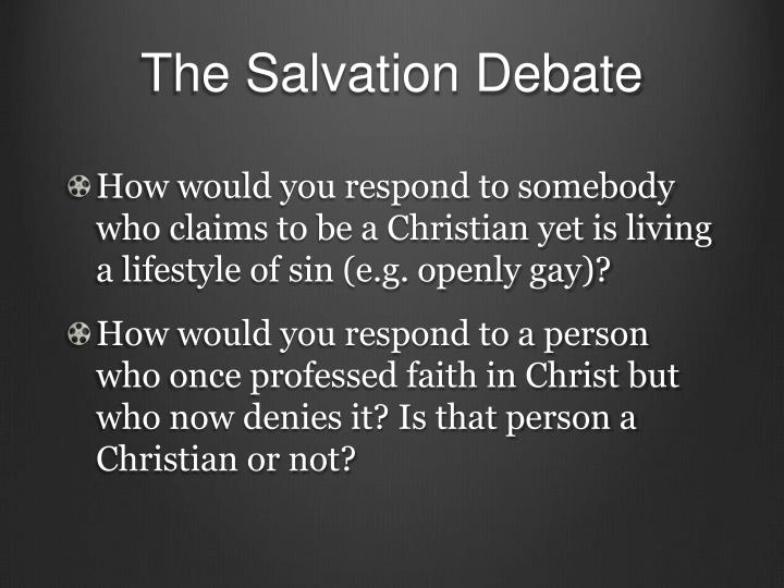 The salvation debate1