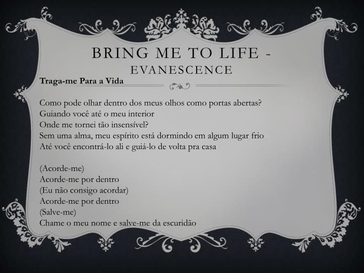 Bring me to life evanescence
