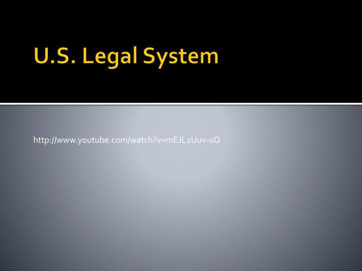 U.S. Legal System