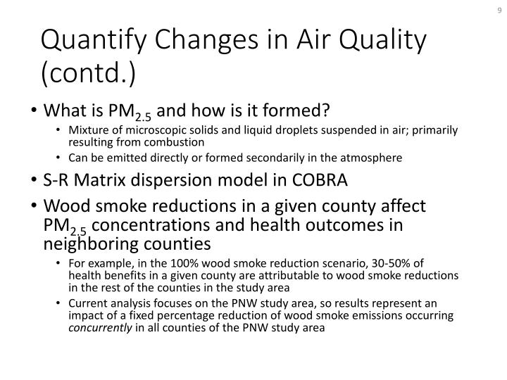 Quantify Changes in Air