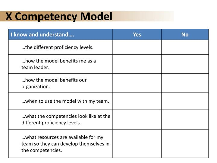 X Competency