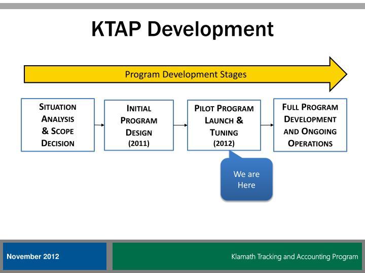 KTAP Development