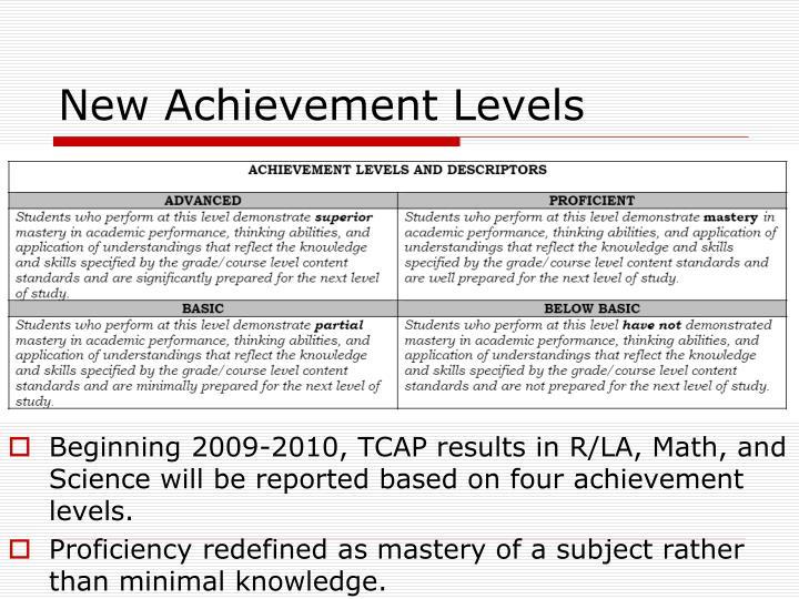 New Achievement Levels