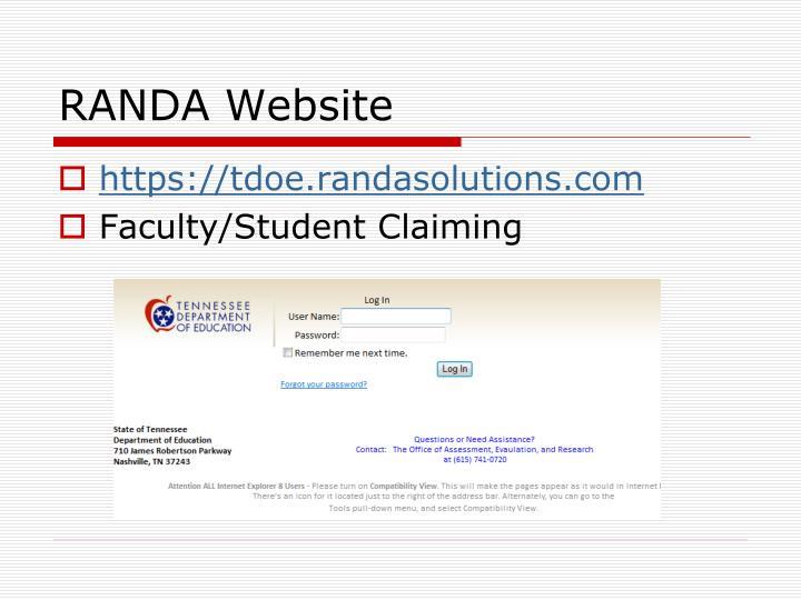 RANDA Website