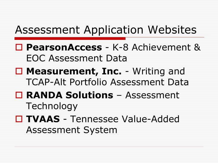 Assessment Application Websites