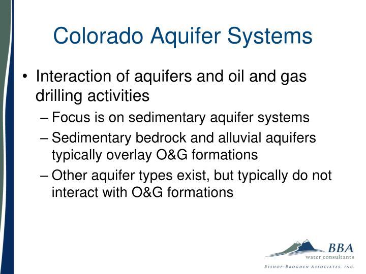 Colorado Aquifer Systems