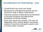 considerations for rulemaking cont