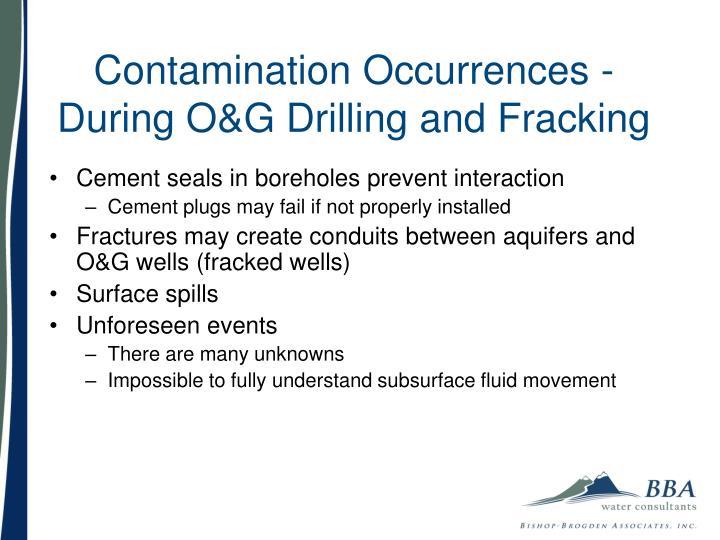 Contamination Occurrences -