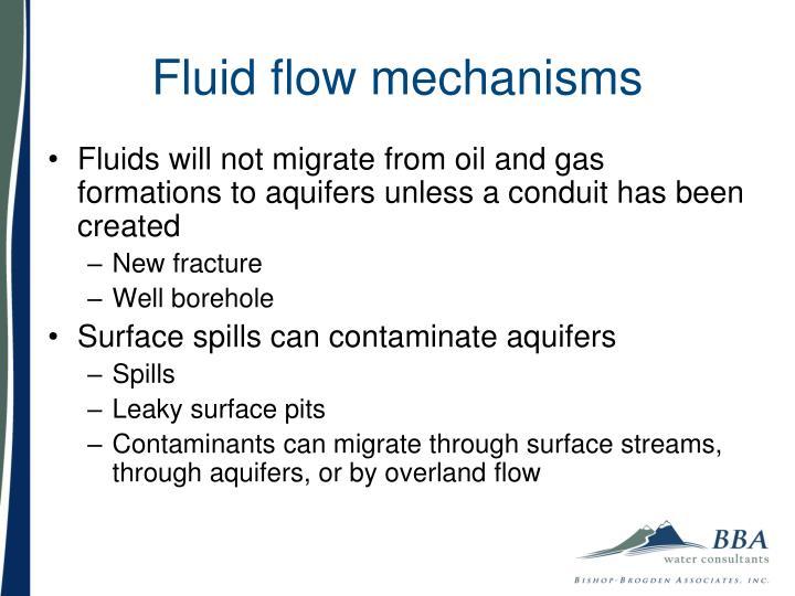 Fluid flow mechanisms