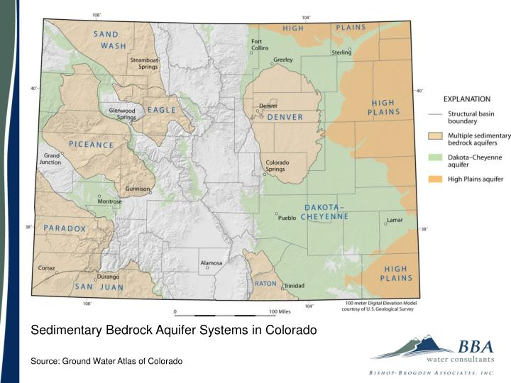 Sedimentary Bedrock Aquifer Systems in Colorado