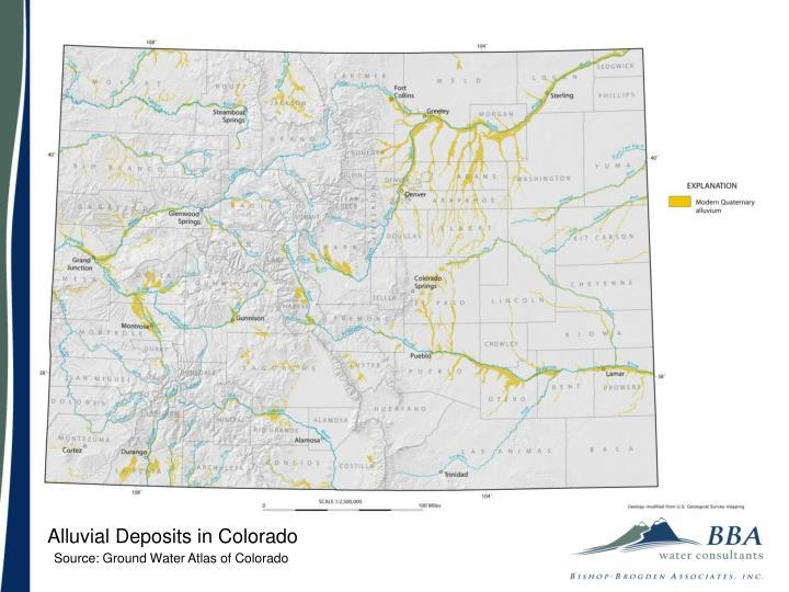 Alluvial Deposits in Colorado