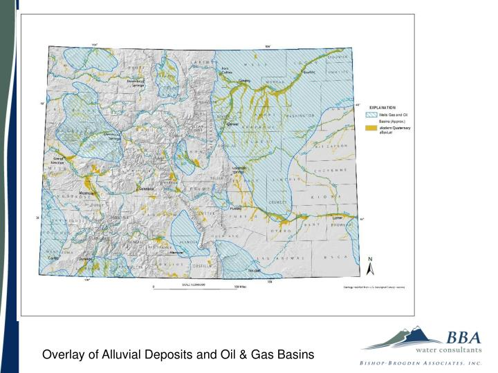 Overlay of Alluvial Deposits and Oil & Gas Basins