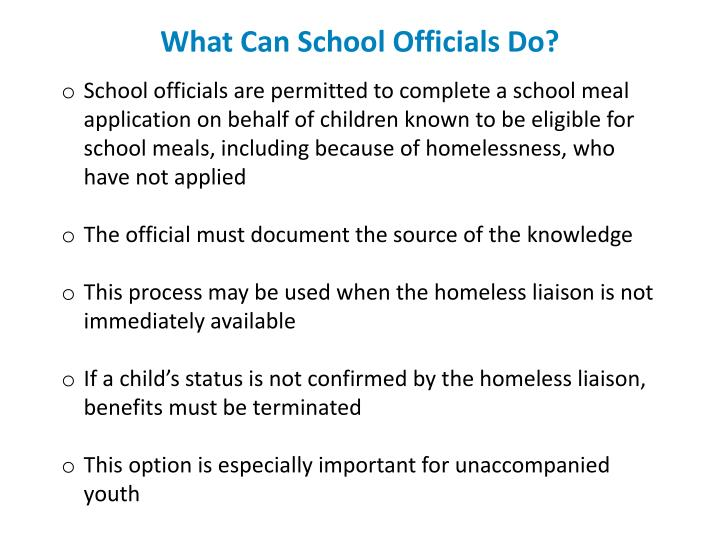 What Can School Officials Do?