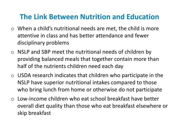 The Link Between Nutrition and Education
