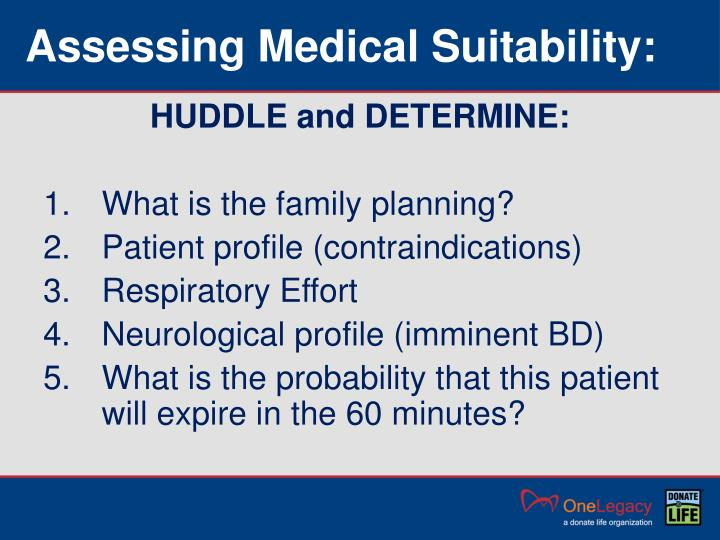 Assessing Medical Suitability: