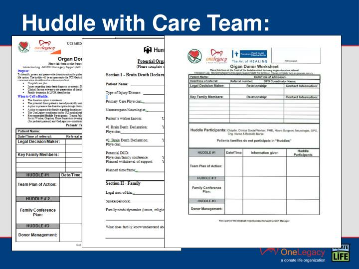 Huddle with Care Team: