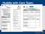 huddle with care team