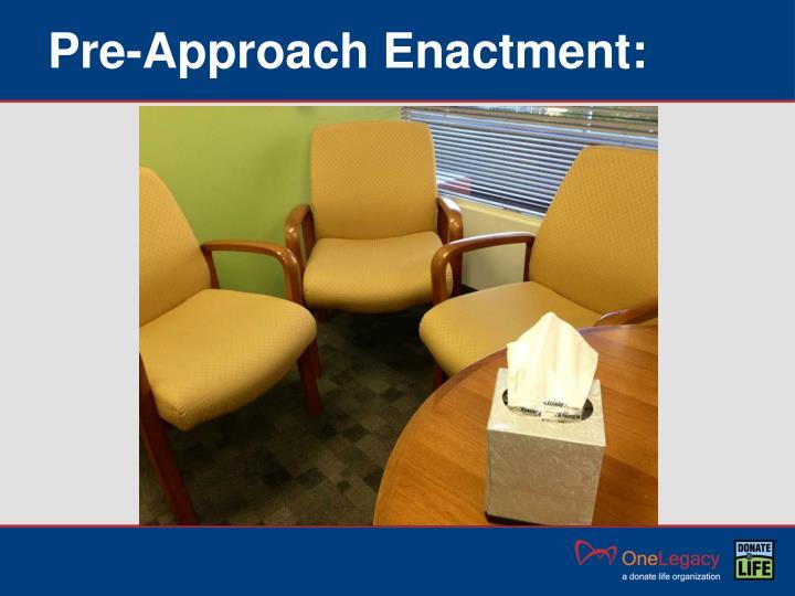 Pre-Approach Enactment: