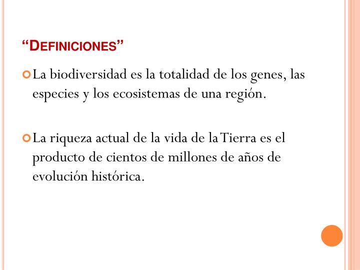 """""""Definiciones"""""""
