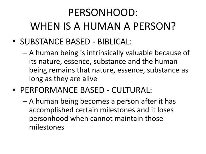 PERSONHOOD: