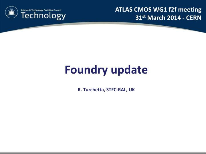 ATLAS CMOS WG1 f2f meeting