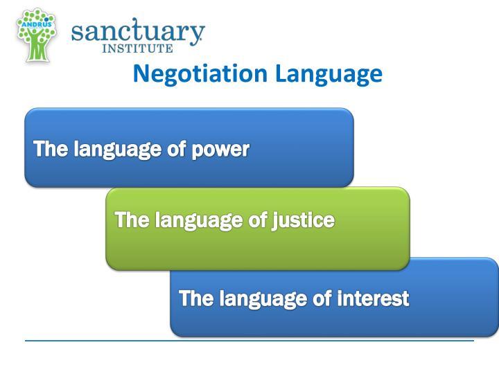 Negotiation Language