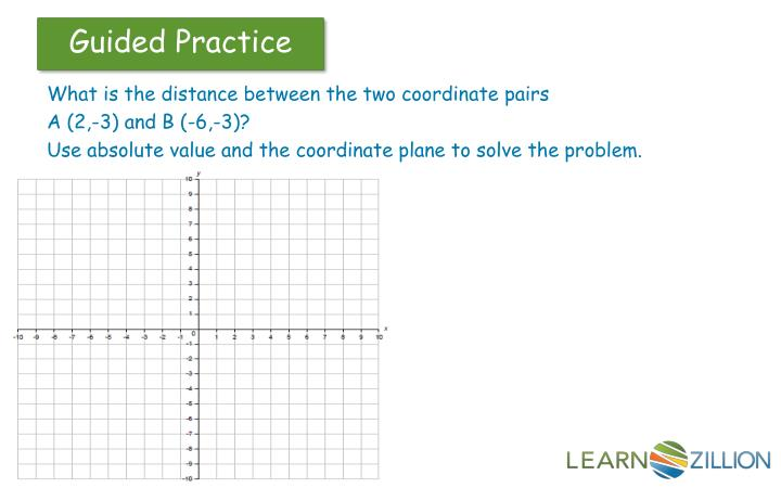 What is the distance between the two coordinate pairs