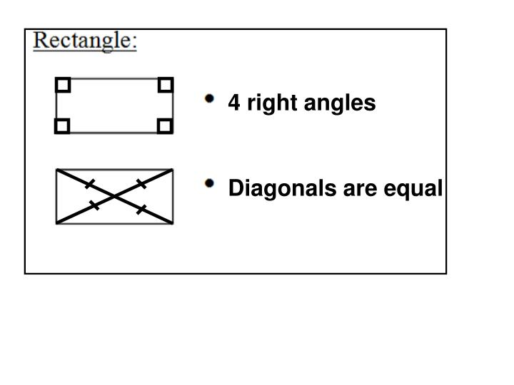 4 right angles