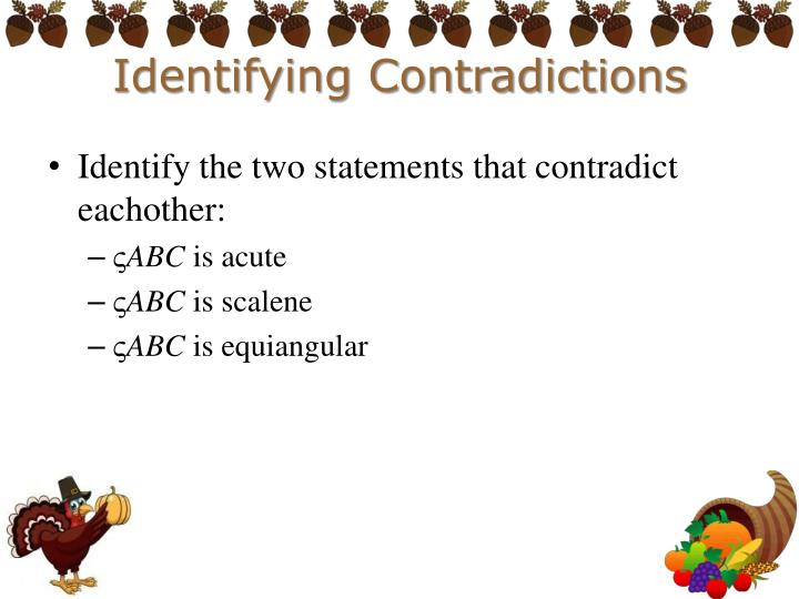 Identifying Contradictions