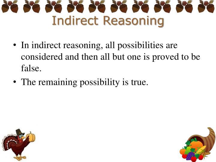 Indirect Reasoning