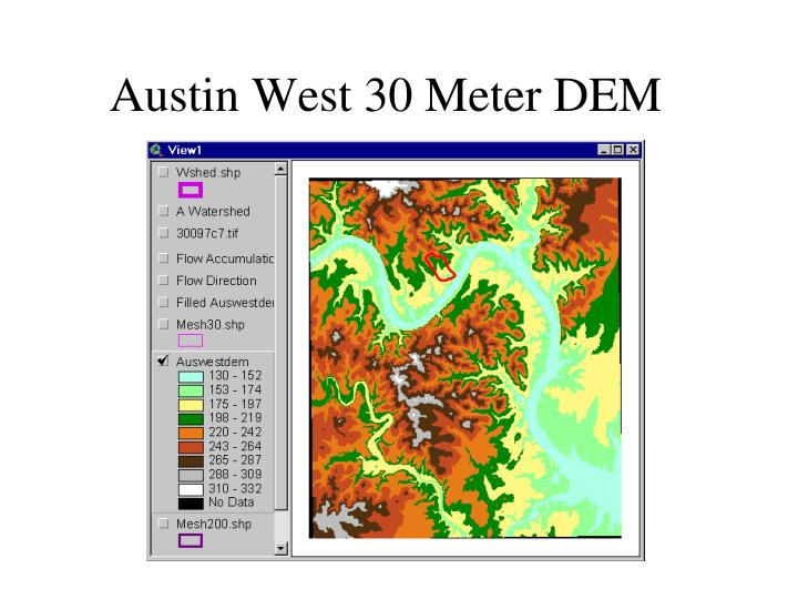 Austin West 30 Meter DEM