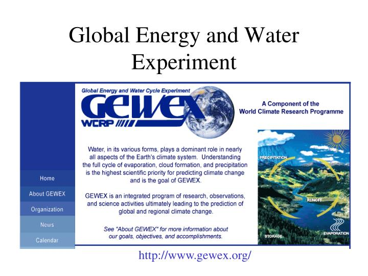 Global Energy and Water Experiment