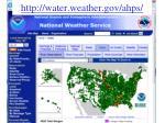 http water weather gov ahps