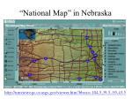 national map in nebraska