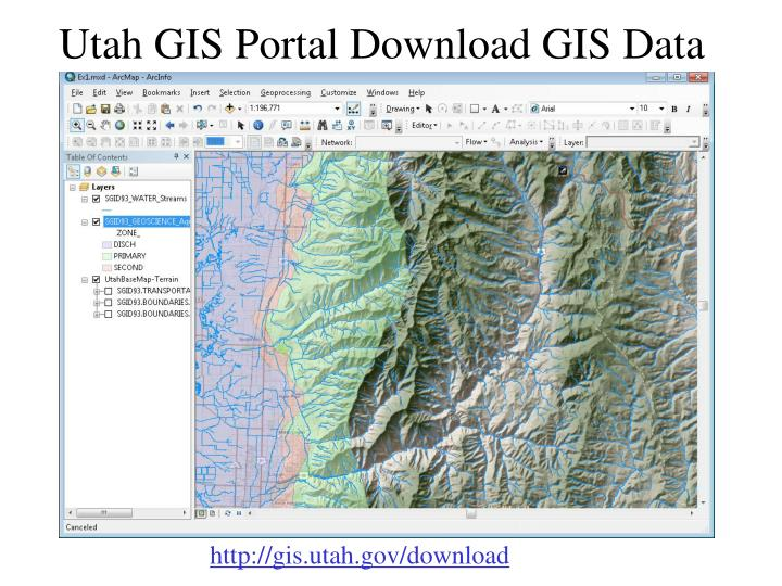Utah GIS Portal Download GIS Data